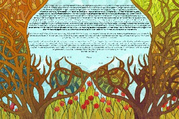 The Stained Glass Or­chards Ke­tubah