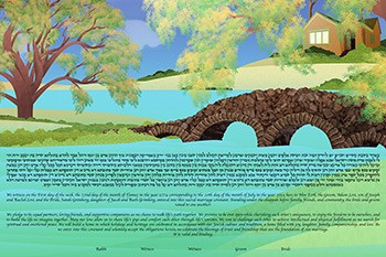 The By The Lake Ketubah