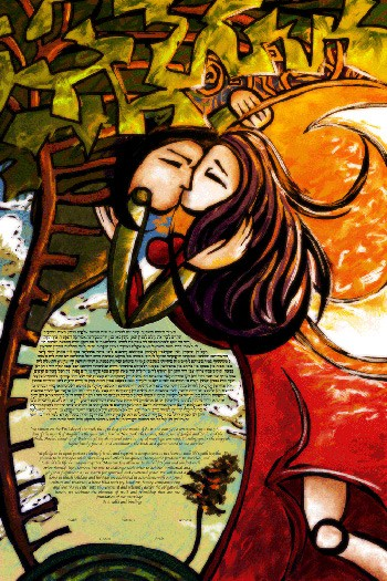 The Loving Embrace Ketubah